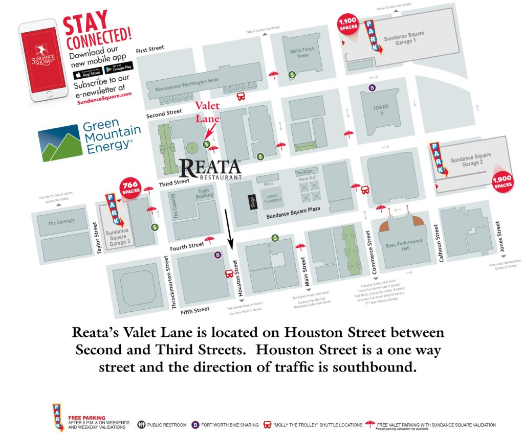 Parking Options for Reata Restaurant
