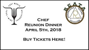Chef Reunion Dinner - April 5, 2018